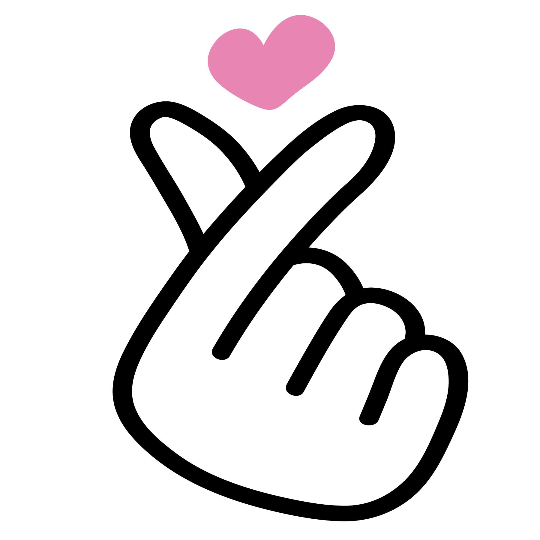 korean fingerheart - Download Free Vectors, Clipart ...