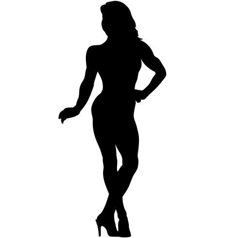 silhueta de poses de musculação