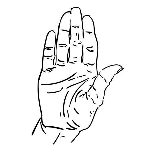 Handzeichen Vektor zu stoppen