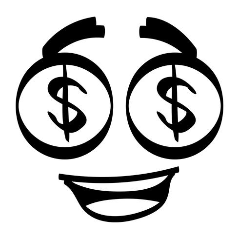 dollar eyes vector