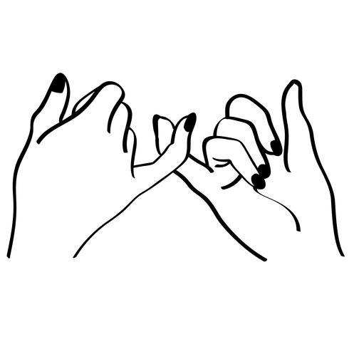 kleiner Finger Versprechen Vektor