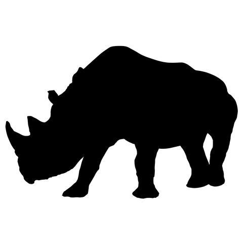 noshörning noshörning vektor eps