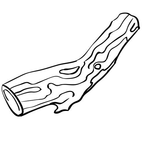 een stuk hout