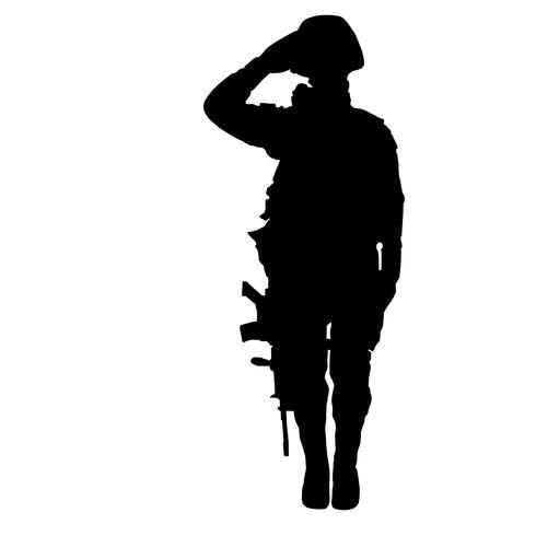 vetor de saudação militar