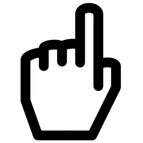 vecteur de doigt pointé
