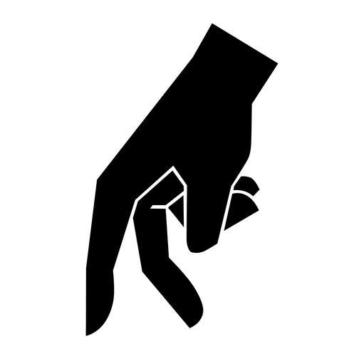 vetor de dedo andando