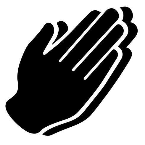 vector de manos orando
