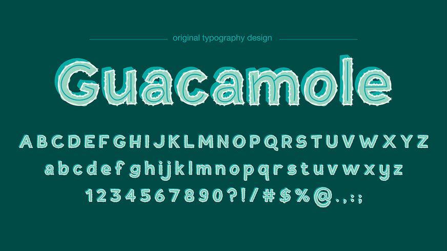 Abstrakter niedlicher grüner Typografieentwurf