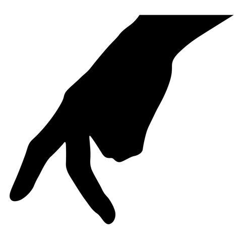 finger walking vektor