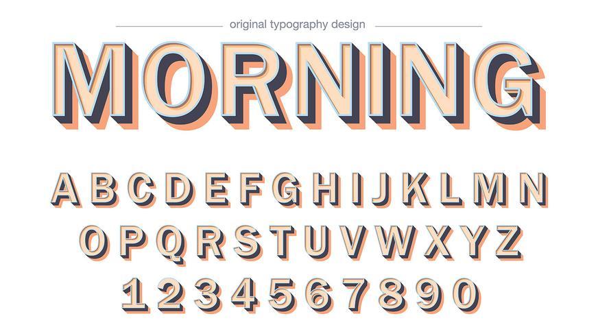 Gewaagd slagschaduw typografieontwerp vector