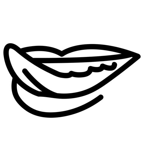 lingua fuori vettore
