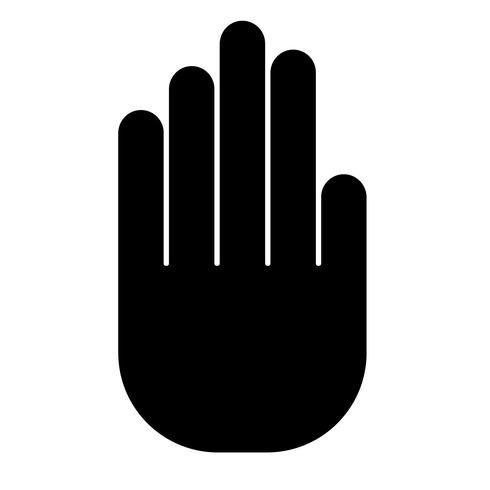 stop hand teken vector