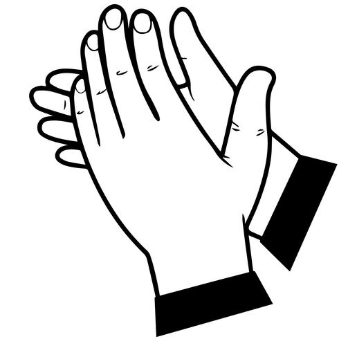 clapping hands vector