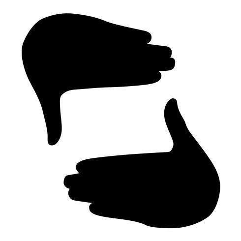 Hand-Fotorahmen Vektor
