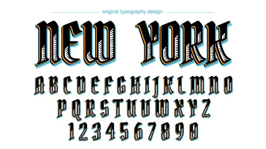 Conception de typographie vintage personnalisée vecteur