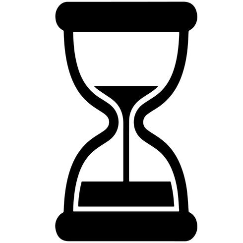 reloj de arena vector eps