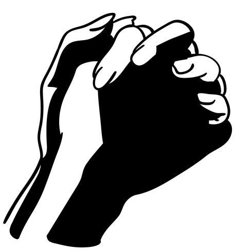 betende Hände Vektor
