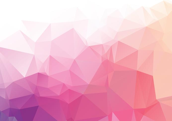Pink abstract geometric rumpled triangular low poly style vector illustration graphic background
