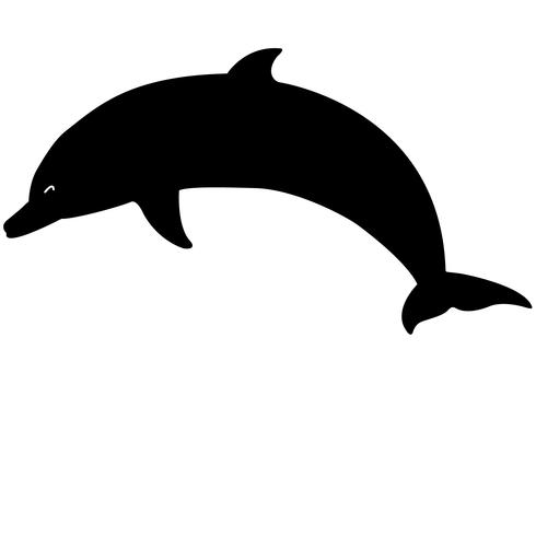 Delphin-Schweinswal-Vektor-Eps