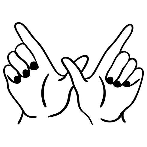 was auch immer Handzeichen Vektor