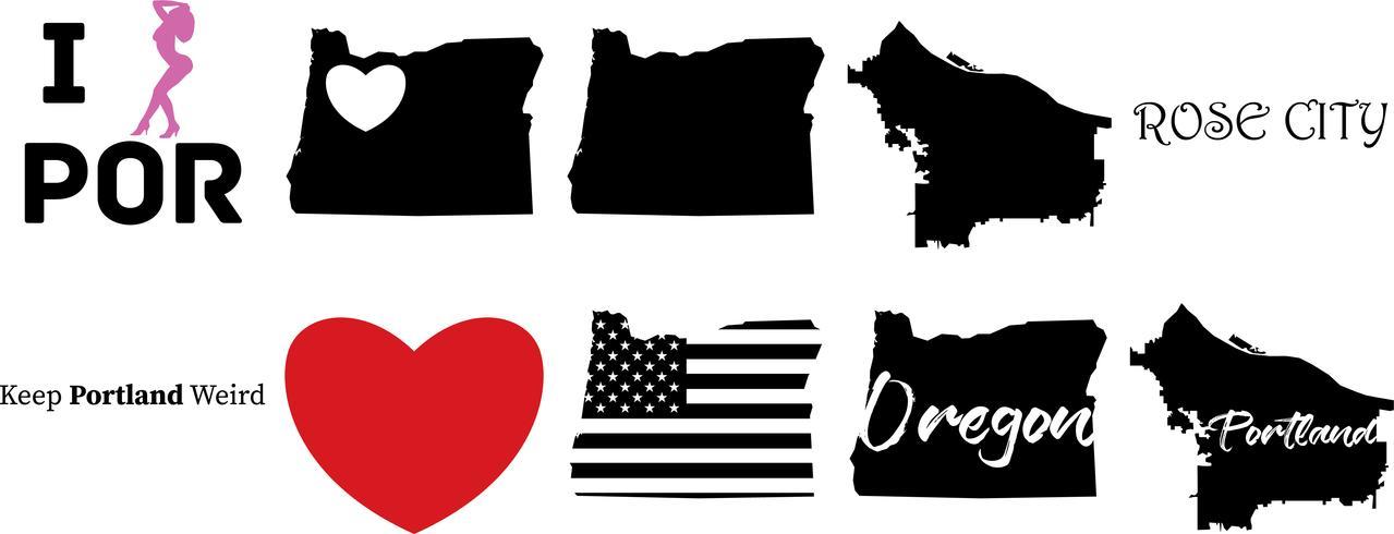 Portland Oregon US-Karte