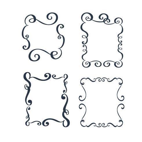 Vektor vintagegränsram gravering med retro prydnadsmönster i antika rokoko stil dekorativa design