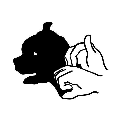 Hand Tier Schatten Vektor