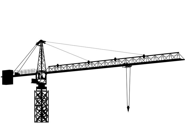 bouw kraan vector eps