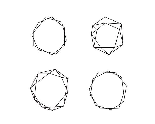 Geometrische runde Form-Sammlung mit Platz für Text. Satz des Kreises im Vektor. Logo Symbol und Icons. Abbildung getrennt auf einem weißen Hintergrund