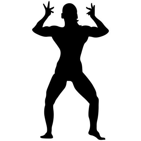 bodybuilding vormt silhouet