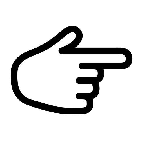 vecteur de signe de pistolet de doigt