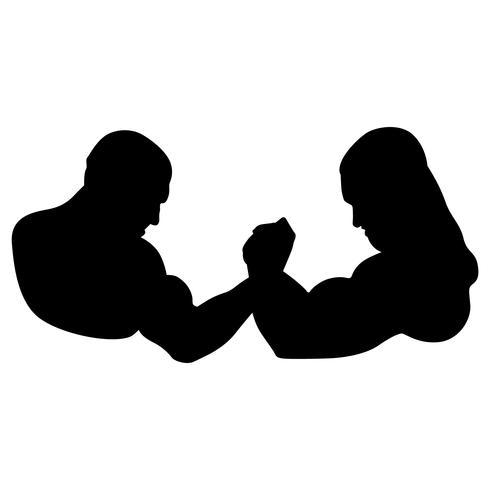 vetor de wrestling de braço