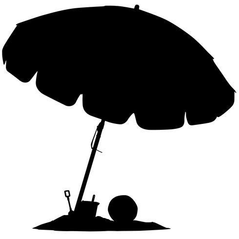 vecteur de parapluie de plage