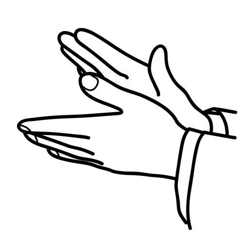 applaudissements vecteur de mains