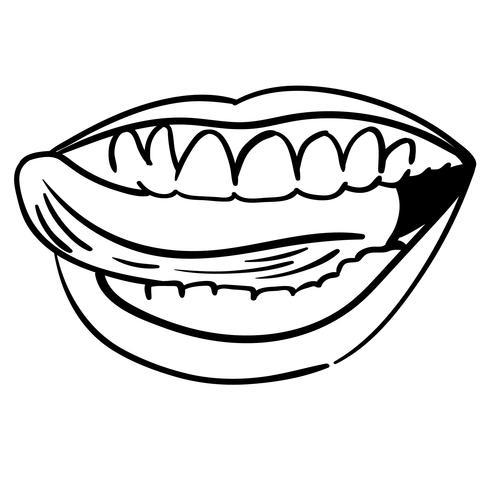 Zunge heraus Vektor