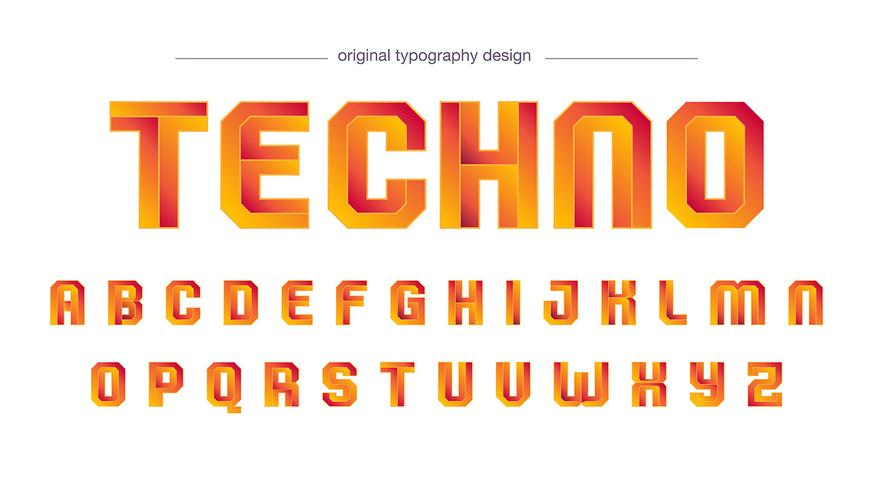Modern oranje typografieontwerp vector
