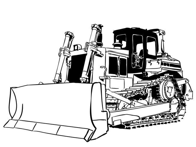 bulldozer vector eps