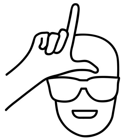 loser hand sign vector