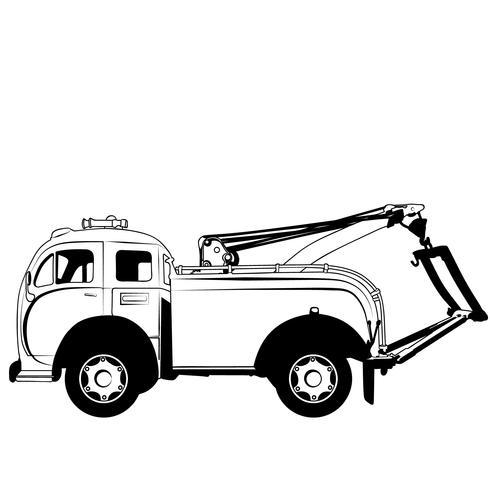 slepen vrachtwagen vector eps