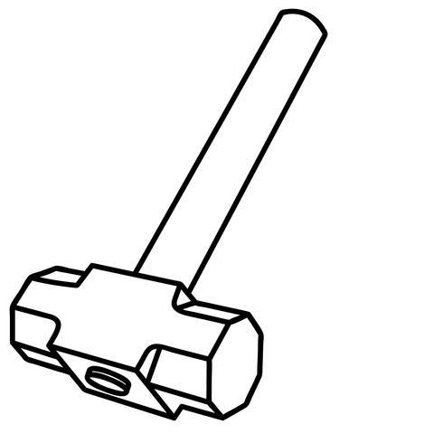 Vorschlaghammer Vektor Eps
