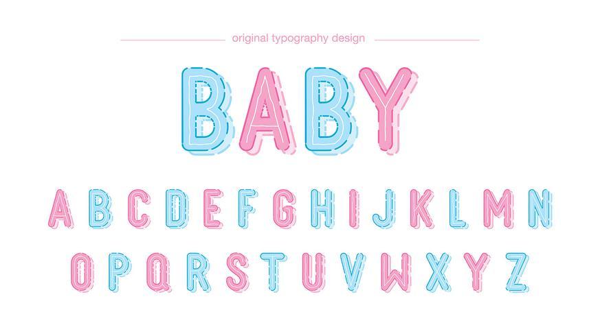 Diseño lindo de la tipografía del bebé