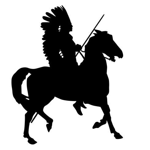 rijdend op een paardensilhouet