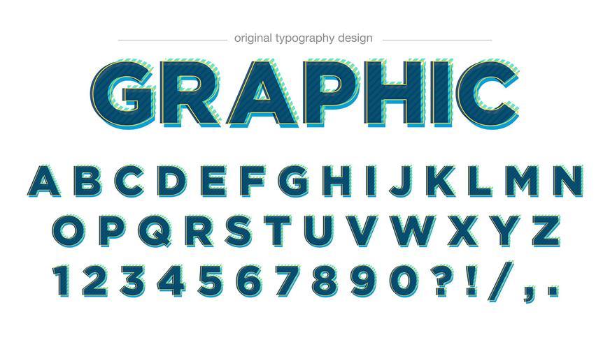 Moderner grüner Typografieentwurf