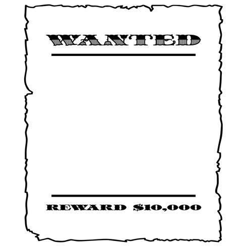 gezocht poster