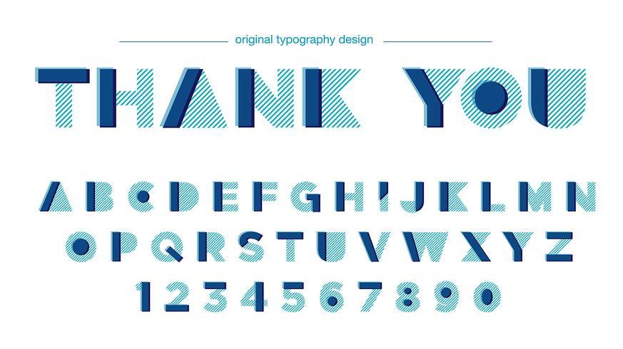 Moderner abstrakter Typografieentwurf