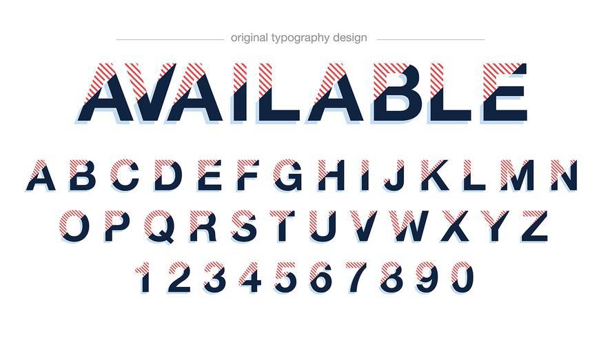 Conception de typographie abstraite moderne