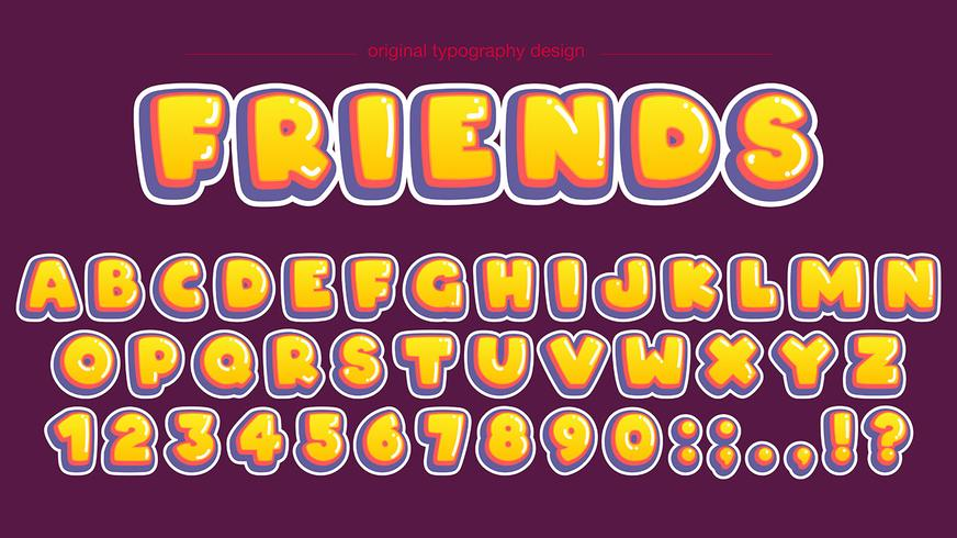 Djärv gul bubbla typografi design
