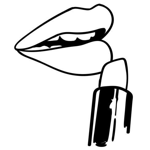 lippenstift vector aanbrengen