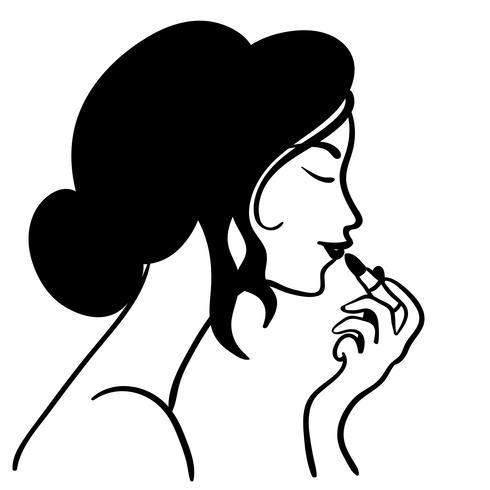 mettre le vecteur de rouge à lèvres