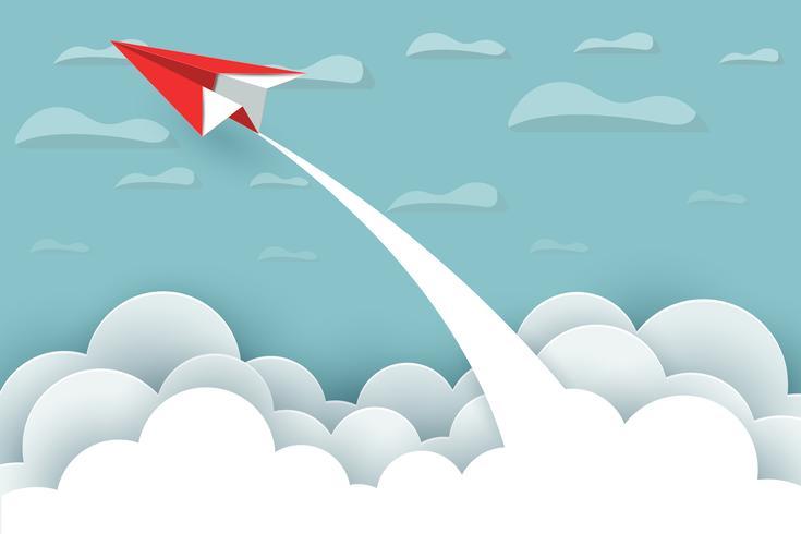 Concept d'avion en papier